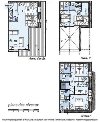 Holiday in mountain resort 4 room triplex chalet 6 people (Coron) - Le Hameau de Caseblanche - Saint Martin de Belleville - Plan