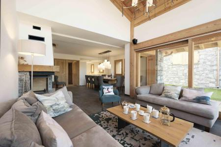Holiday in mountain resort 7 room duplex chalet 12 people (Bouc Blanc) - Le Hameau de Caseblanche - Saint Martin de Belleville - Living room