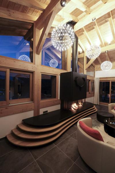 Holiday in mountain resort 7 room triplex chalet 14 people (Haleakala) - Le Hameau de Caseblanche - Saint Martin de Belleville - Living room