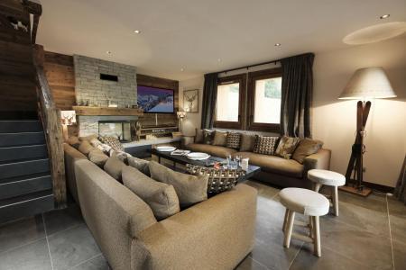 Holiday in mountain resort 8 room quadriplex chalet 16 people (Becca) - Le Hameau de Caseblanche - Saint Martin de Belleville - Living room