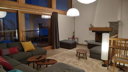 Holiday in mountain resort 8 room triplex chalet 16 people (Litote) - Le Hameau de Caseblanche - Saint Martin de Belleville - Living room