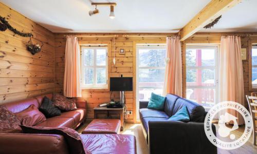 Wakacje w górach Domek górski 3 pokojowy 6 osób (Confort 70m²) - Les Chalets de Flaine Hameau - Maeva Home - Flaine - Kanapą z wysuwanym łóżkiem