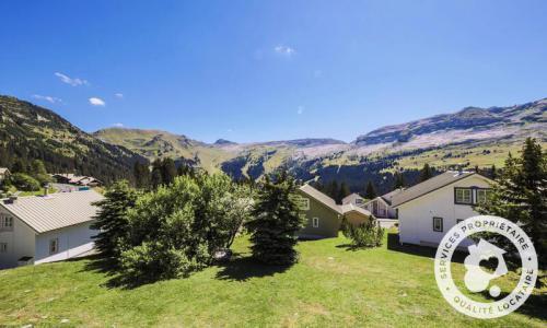 Wakacje w górach Domek górski 3 pokojowy 8 osób (Confort 84m²) - Les Chalets de Flaine Hameau - Maeva Home - Flaine - Na zewnątrz latem
