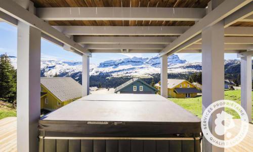 Wakacje w górach Domek górski 7 pokojowy 14 osób (Prestige 180m²) - Les Chalets de Flaine Hameau - Maeva Home - Flaine - Na zewnątrz latem
