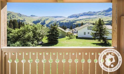 Wakacje w górach Domek górski 3 pokojowy na poddaszu  dla 8 osób (Confort 84m²) - Les Chalets de Flaine Hameau - Maeva Particuliers - Flaine - Na zewnątrz latem