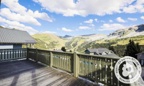 Wakacje w górach Domek górski 6 pokojowy 10 osób (Confort 125m²) - Les Chalets de Flaine Hameau - Maeva Particuliers - Flaine - Na zewnątrz latem
