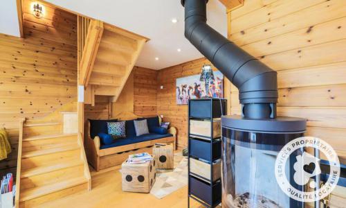 Wakacje w górach Domek górski 4 pokojowy 6 osób (Prestige 70m²) - Les Chalets de Flaine Hameau - Maeva Particuliers - Flaine - Piecem na drewno