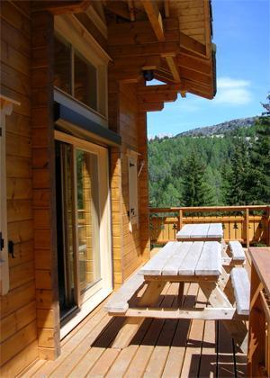 Location au ski Chalet 7 pièces 14 personnes - Les Chalets de l'Eden - La Joue du Loup - Extérieur été