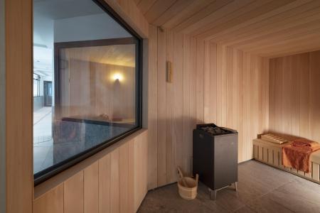 Vacances en montagne Résidence Alpen Lodge - La Rosière - Sauna