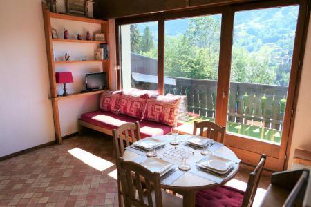 Urlaub in den Bergen Studio Schlafnische 5 Personen (R08) - Résidence Alpenrose - Saint Gervais - Wohnzimmer
