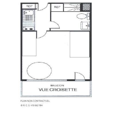 Vacances en montagne Studio 3 personnes (514) - Résidence Aravis - Les Menuires