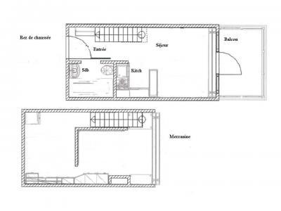 Vacances en montagne Studio mezzanine 5 personnes (510) - Résidence Archeboc - Les Arcs - Plan