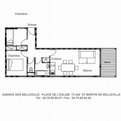 Holiday in mountain resort 2 room apartment cabin 6 people (A1) - Résidence Balcons de Tougnette - Saint Martin de Belleville - Plan