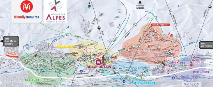 Vacances en montagne Résidence Beaufortain - Les Menuires - Plan