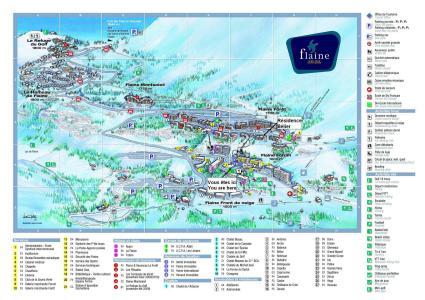 Vacances en montagne Résidence Bélier - Flaine - Plan