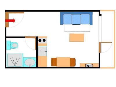 Vacances en montagne Studio 2 personnes (135) - Résidence Bouvreuil - Val Cenis - Plan