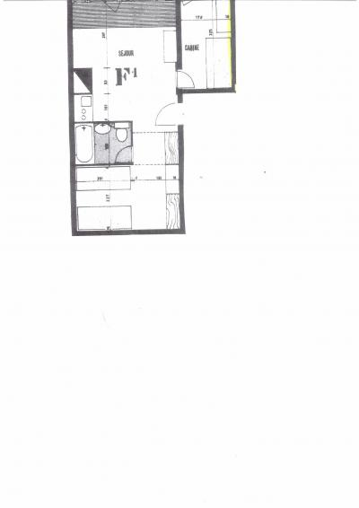 Vacances en montagne Appartement 2 pièces 4 personnes (729R) - Résidence Cachette - Les Arcs - Plan