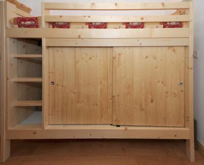 Vacances en montagne Studio cabine 4 personnes (081) - Résidence Carlines II - Les Menuires - Couchage
