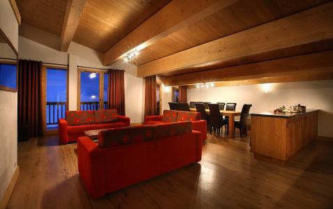 Urlaub in den Bergen Résidence Chalet des Neiges Cîme des Arcs - Les Arcs - Kleines Wohnzimmer