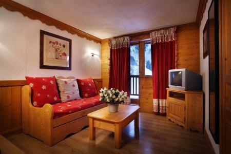 Urlaub in den Bergen Résidence Chalet des Neiges - Oz en Oisans - Kleines Wohnzimmer