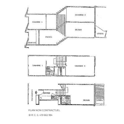 Vacances en montagne Appartement triplex 3 pièces 7 personnes (835) - Résidence Challe - Les Menuires - Plan
