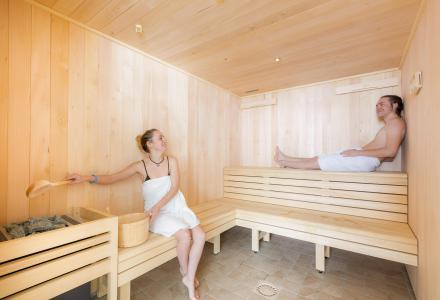Vacances en montagne Résidence Club MMV l'Etoile des Sybelles - Le Corbier - Sauna