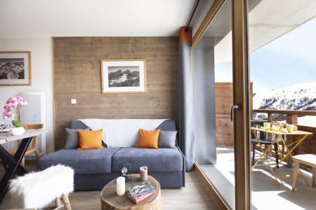 Urlaub in den Bergen Résidence Club MMV les Clarines - Les 2 Alpes - Wohnzimmer