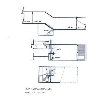 Location au ski Studio duplex 4 personnes (214) - Residence Cote Brune - Les Menuires - Extérieur été