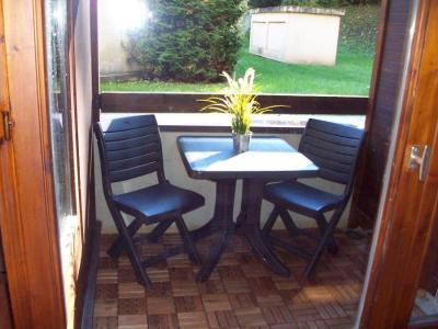 Vacances en montagne Studio coin montagne 4 personnes (1008) - Résidence Cybèle - Brides Les Bains - Table et chaises de jardin
