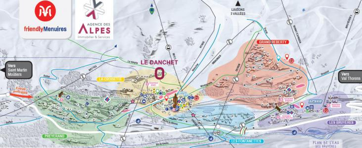 Vacances en montagne Résidence Danchet - Les Menuires - Plan