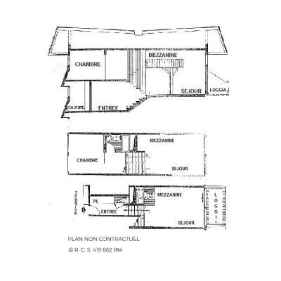 Vacances en montagne Appartement 2 pièces mezzanine 6 personnes (1029) - Résidence Danchet - Les Menuires - Plan