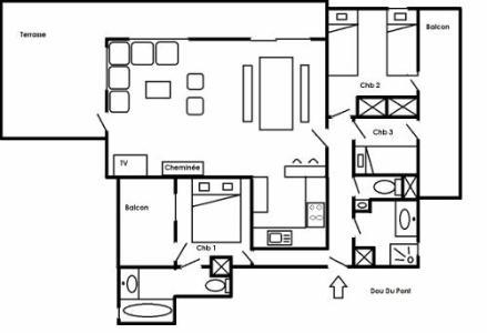 Location au ski Residence Dou Du Pont - Méribel - Extérieur été