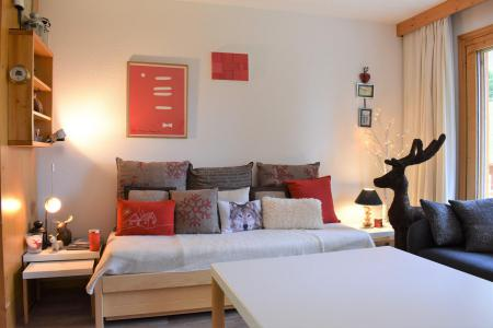Holiday in mountain resort Studio sleeping corner 4 people - Résidence Eperonnelles - Méribel - Living room