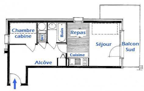 Vacanze in montagna Appartamento 2 stanze per 5 persone (2206) - Résidence Grand Mont 2 - Les Saisies - Mappa