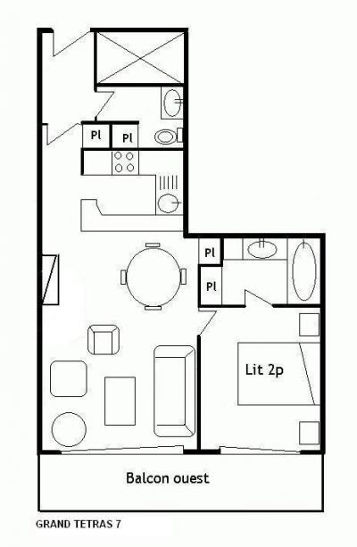 Vacances en montagne Appartement 4 pièces 8 personnes (13) - Résidence Grand Tétras - Méribel - Plan