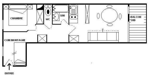 Vacances en montagne Appartement 2 pièces cabine 6 personnes (15) - Résidence l'Epervière - Saint Martin de Belleville - Plan