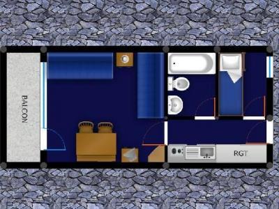 Vacances en montagne Studio 4 personnes (027) - Résidence la Boussole - Montchavin La Plagne - Plan