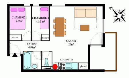 Vacances en montagne Appartement 3 pièces 6 personnes (330) - Résidence la Combe II - Aussois