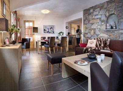 Urlaub in den Bergen Résidence la Grange Aux Fées - Valmorel - Kleines Wohnzimmer
