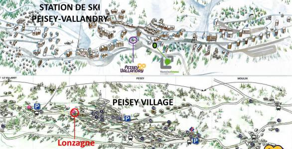 Holiday in mountain resort 2 room apartment 5 people (V0310) - Résidence la Lonzagne - Peisey-Vallandry - Plan