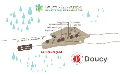 Location au ski Residence Le Beauregard - Valmorel - Extérieur été