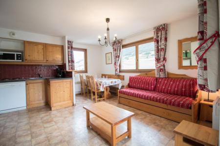 Urlaub in den Bergen 3-Zimmer-Appartment für 6 Personen (A72) - Résidence le Bonheur des Pistes - Val Cenis - Einfache Klappschlafcouch
