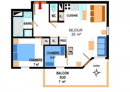 Vacances en montagne Appartement 3 pièces 6 personnes (A71) - Résidence le Bonheur des Pistes - Val Cenis