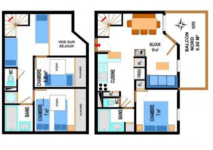 Vacances en montagne Appartement duplex 4 pièces 10 personnes (A73) - Résidence le Bonheur des Pistes - Val Cenis