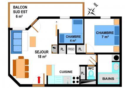 Vacances en montagne Appartement 3 pièces 6 personnes (B27) - Résidence le Bonheur des Pistes - Val Cenis