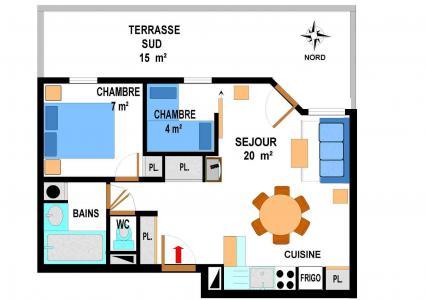 Vacances en montagne Appartement 3 pièces 6 personnes (A64) - Résidence le Bonheur des Pistes - Val Cenis