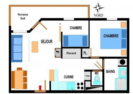 Vacances en montagne Appartement 3 pièces 6 personnes (B04) - Résidence le Bonheur des Pistes - Val Cenis - Plan