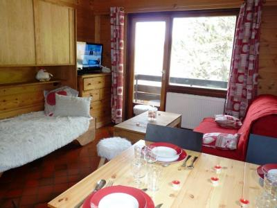 Holiday in mountain resort Studio 4 people (002) - Résidence le Charvet - Le Grand Bornand - Dining area