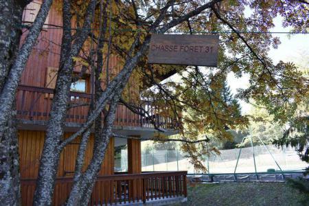 Location au ski Studio 2 personnes (6) - Résidence le Chasseforêt - Méribel - Extérieur été
