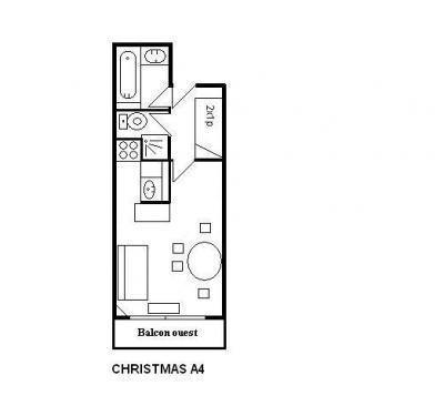 Vacances en montagne Studio 4 personnes (A4) - Résidence le Christmas - Méribel